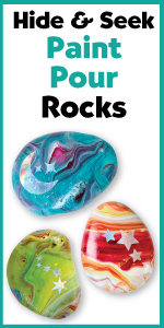Glow in the Dark, Rock Painting Kit, Kids Craft Kit, Arts and crafts, art supplies, outdoor toys