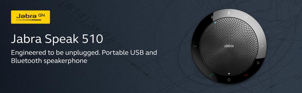 Jabra Speak 510 UC USB Bluetooth Portable Audio Conferencing Speakerphone Small Business Office