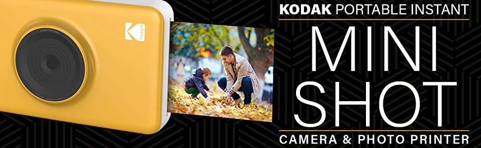 Kodak Mini Shot - Fotocamera digitale a stampa istantanea, wireless, 5 x 7.6 cm, con tecnologia di stampa brevettata a 4Pass 2 in 1, bianco