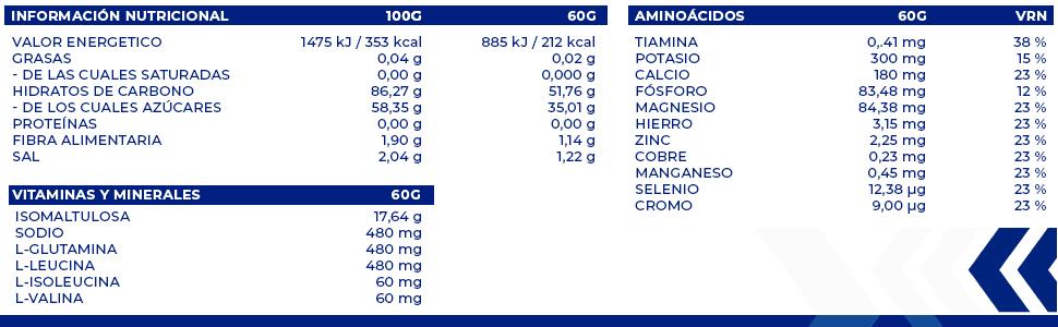 Bebida isotónica y energética Nutrinovex 360º Longovit con BCAAs, Glutamina y Magnesio (Mango maracuyá, 1000 g)