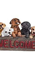 dogs, welcome signs, puppy dogs