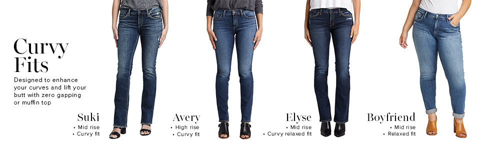 SILVER JEANS CO ELYSE CURVY FIT JEANS