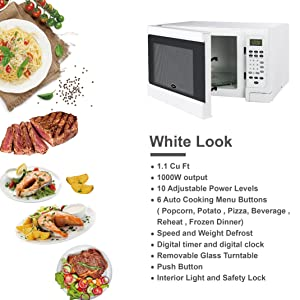 Microwave Oven in White color is an excellent choice for home or office use. It provides six cooking functions for easy, one-touch operation.