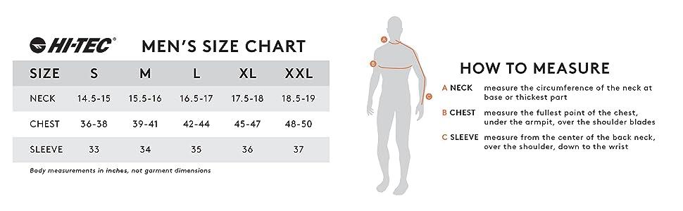 Men's Boy's Size chart Small Large tiny huge big