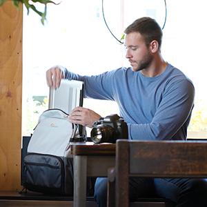 Laptop, lowepro, backpack, camera bag
