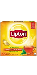 Lipton Tea Bags, Cup Size 100 Count