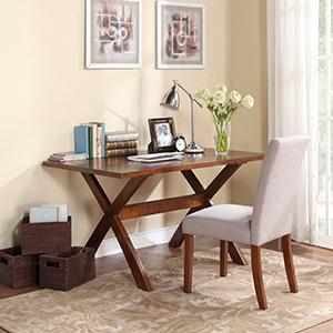 Dorel Living Trestle Dining Table Rustic Style Office