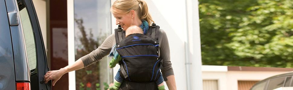 manduca BlackLine Absolute Blue, Babytrage, baby carrier
