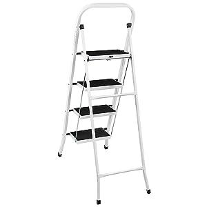 Home Discount 3 Step Ladder Heavy Duty Steel Folding