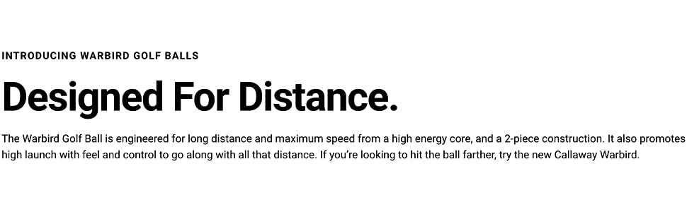designed for distance