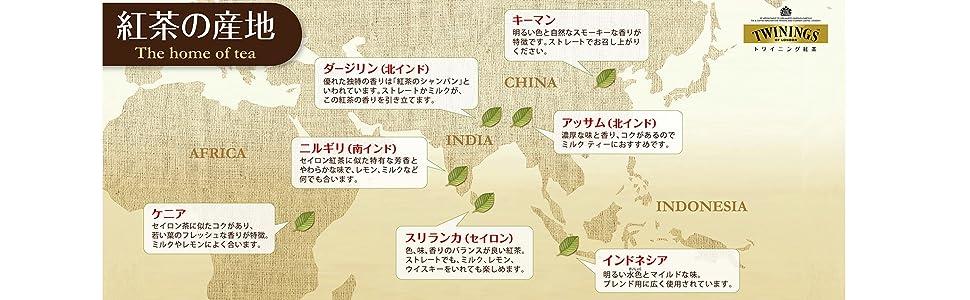 紅茶の産地