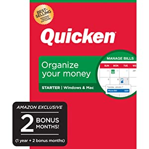 Quicken Starter Budget Manage Money Personal Finance Computer Laptop Income Expenses Track Calc