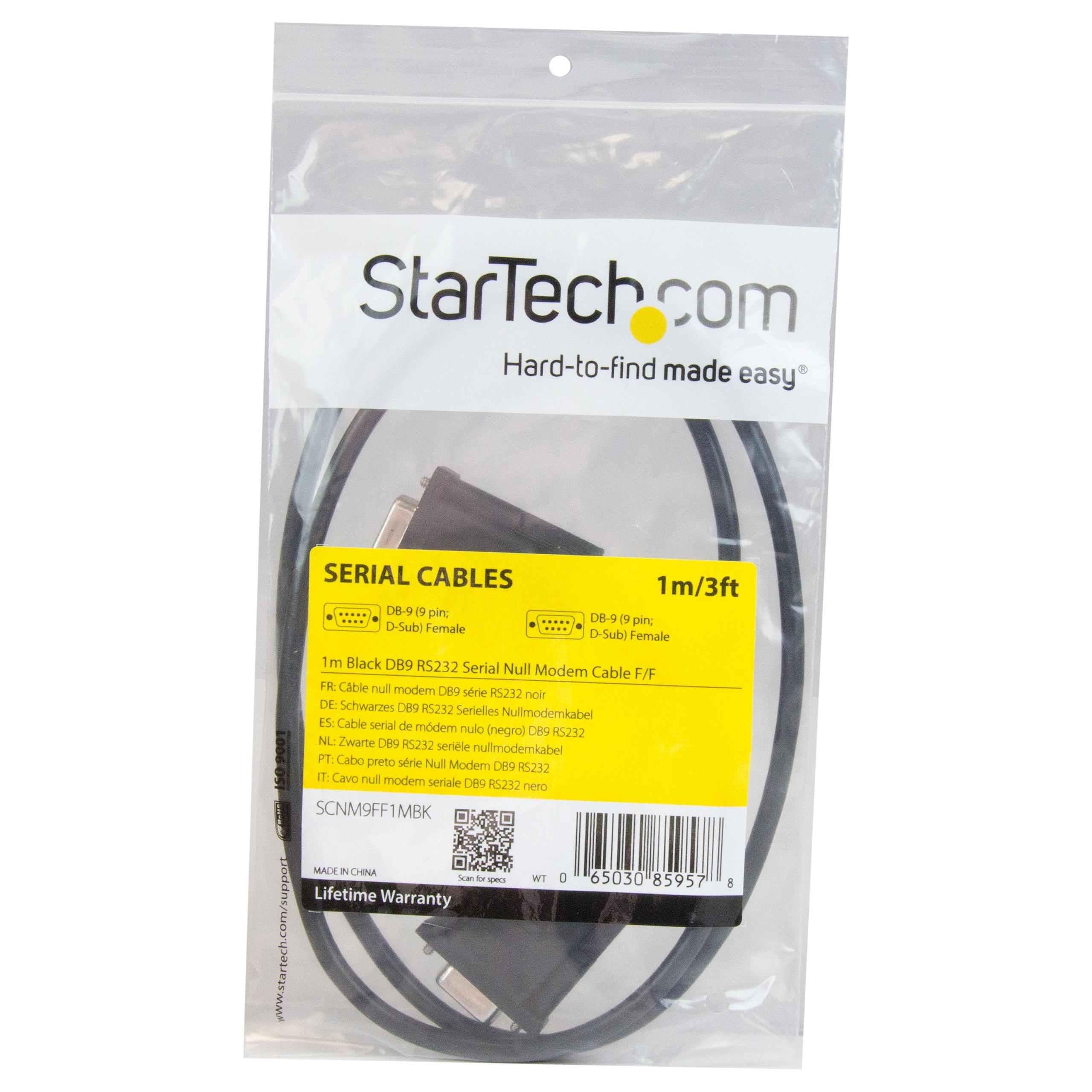 Startechcom 1m Black Db9 Rs232 Serial Null Modem Cable Addition 9 Pin Connector Pinout On Wiring Diagram Sub D Port Or Transfer Files Directly From Pc To Via A Connection Read More View Larger