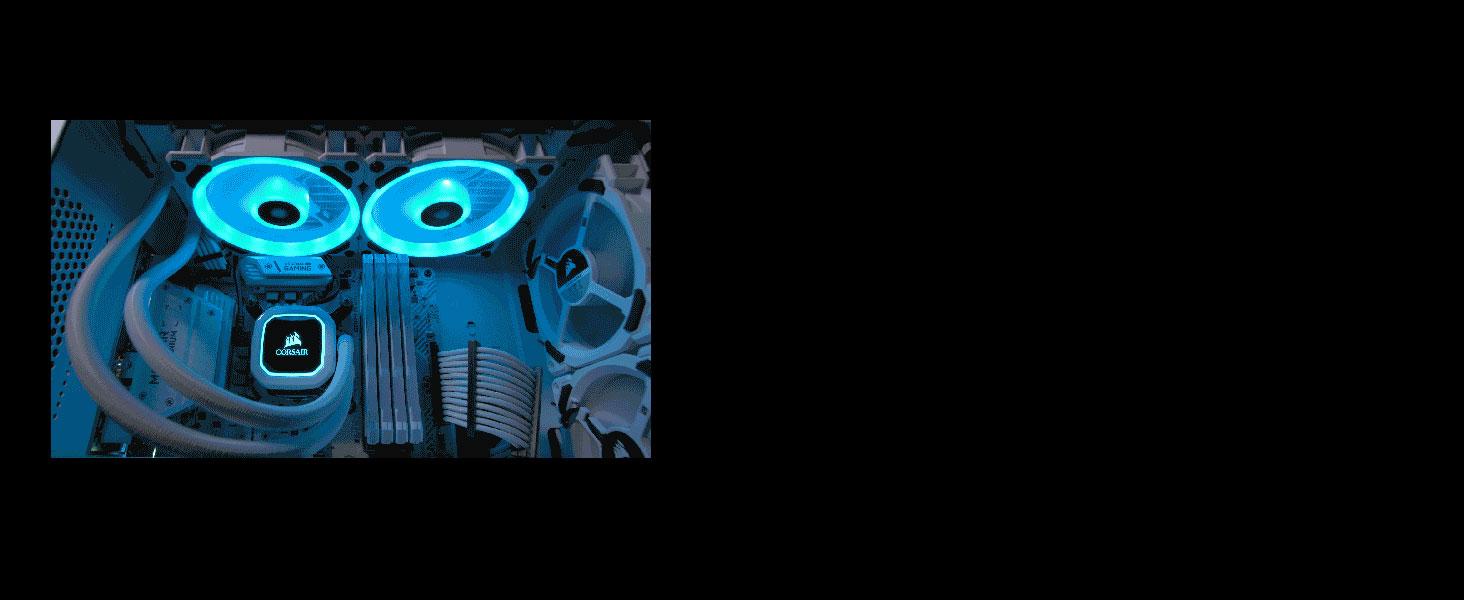 LL120 RGB 120mm Dual Light Loop White RGB LED PWM Fan — Single Pack
