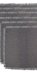 Jute placemats, gray placemats, grey placemats, grey placemat set six