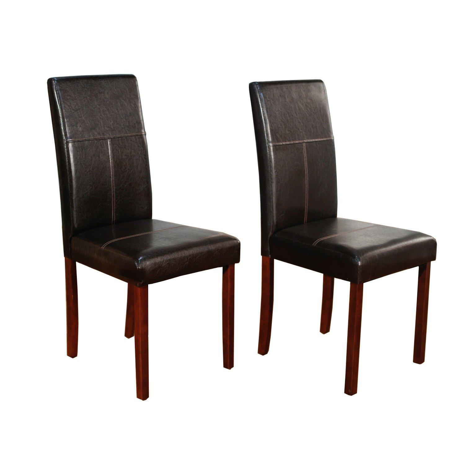 Amazon Dining Chairs: Target Marketing Systems Set Of 2 Upholstered PU Leather