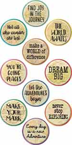 Travel the Map Positive Sayings Accents