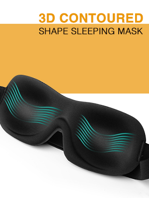 3D CONTOURED SHAPE SLEEPING MASK