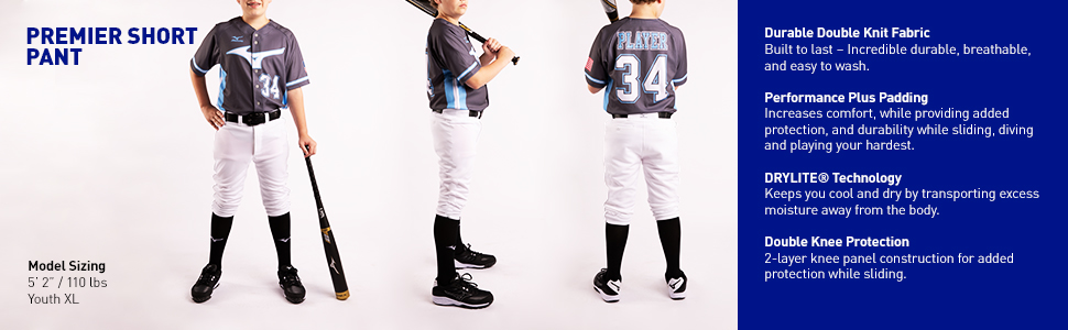 a57a748455b Amazon.com : Mizuno Youth Select Short Pant : Baseball And Softball ...