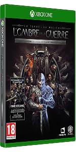 Silver;Edition;Ombre de la Guerre;Mordor;Xbox;jeu video;Terre du milieu;extension;nemesis;anneau