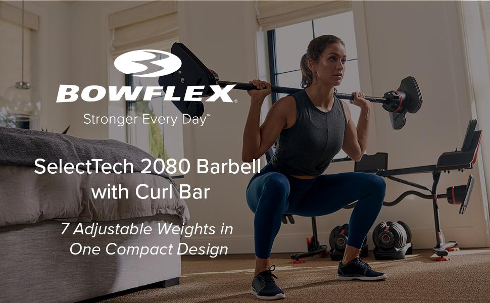 Bowflex SelectTech 2080 Barbell with Curl Bar