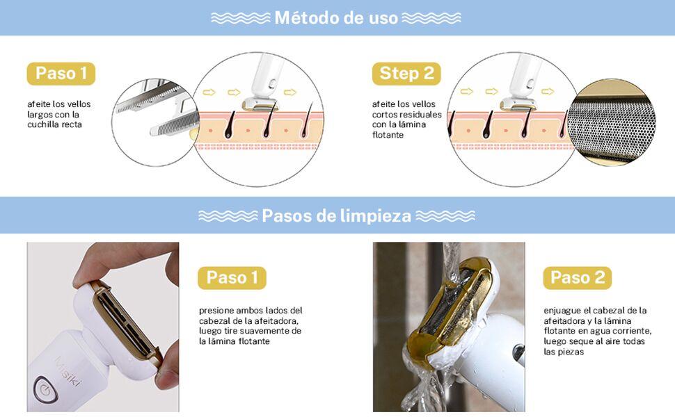 Afeitadora Eléctrica Mujer, Misiki Recortadora Femenina USB ...