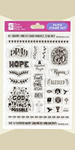 Faith Clear Stamp Set (27 individual stamps)