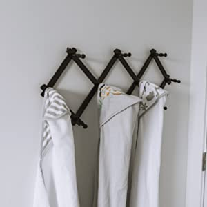 bath towels hanging display
