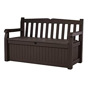 Keter Eden Garden Bench Outdoor storage deck box poolside yard