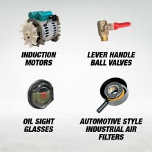 induction motors lever handle ball valves oil sight glasses automotive style industrial air filter