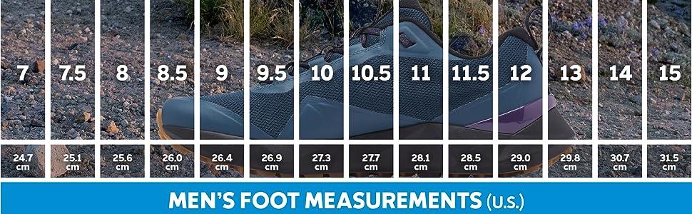 Men's trail shoe sizing