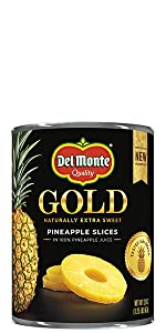 Gold Pineapple Slices