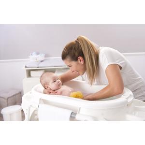 Rotho Babydesign TOP Badewanne Fantastic Mauve 20001 0288 Altrosa Mit Antirutschmatte und Ablaufst/öpsel 0-12 Monate