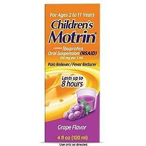 Children's MOTRIN Oral Suspension, Grape, 4 Oz