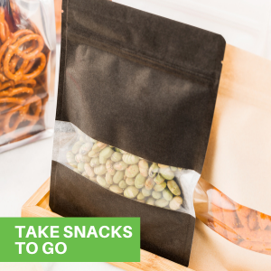 Great for storing party favors, these heat seal bags have ample space for all types of snacks.