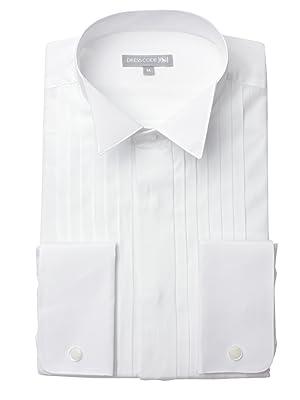 f26ff47f75f77 Amazon.co.jp:  ドレスコード101  ウィングカラー 長袖ワイシャツ ...