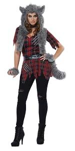 Werewolf, Women's Costume, Halloween, Animal Costume, Cute Costume, Wolf, She-Wolf, Haunted House