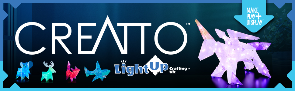 creatto, light-up crafting kit, arts and crafts, diy, birthday, easter, hands-on, creativity, thames