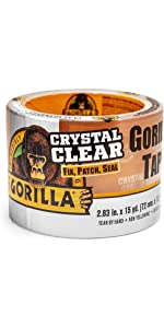 Gorilla Crystal Clear Repair Tough & Wide waterproof duct tape