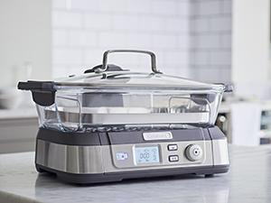 STM1000E, cuiseur vapeur, cuisson vapeur, Cuisinart, écran digital