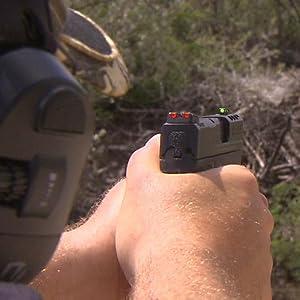 SWMPE21, Hiviz Samp;W Sight, Mamp;P Sight set, HIVIZ handgun sight set, Smith amp; Wesson Sight set, handgun