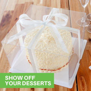 With a clear finish, these bundt cake containers disposable offer guests a 360° view of desserts.