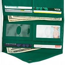 Thin women's wallets non-slip coating wide pockets slim women's wallet