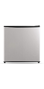 1.6 Cubic Feet Compact Refrigerator, Stainless Steel
