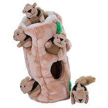 hide a squirrel extra large dog toy, interactive dog toy