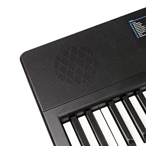 RockJam 61 Portable Electronic Keyboard with Key Note Stickers, Power  Supply and Simply Piano App Content (RJ361)