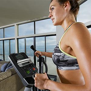 Nautilus, Natilus, Nautlis, Elliptical, Trainer, Training, workouts, programs, display, E614, home