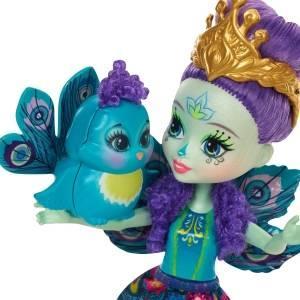 Poupée Enchantimals et figurine paon