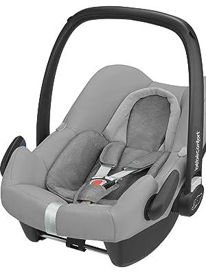 Rock Bébé Confort Silla de auto a Contramarcha de 0 a 12 meses, con cinrurón o ISOFIX y sistema i-size, color nomad blue