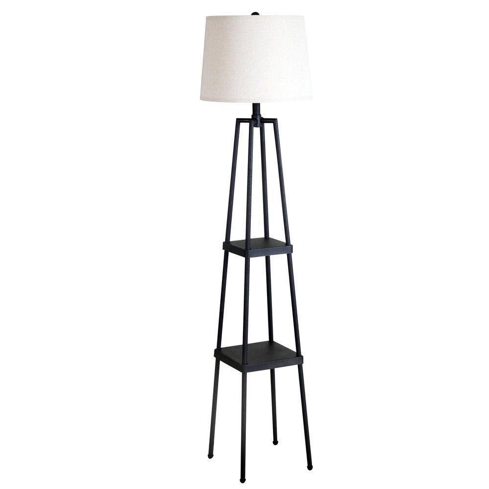 Amazon white floor lamps lamps shades tools - Metal Tag Re Floor Lamp With Distressed Paint View Larger